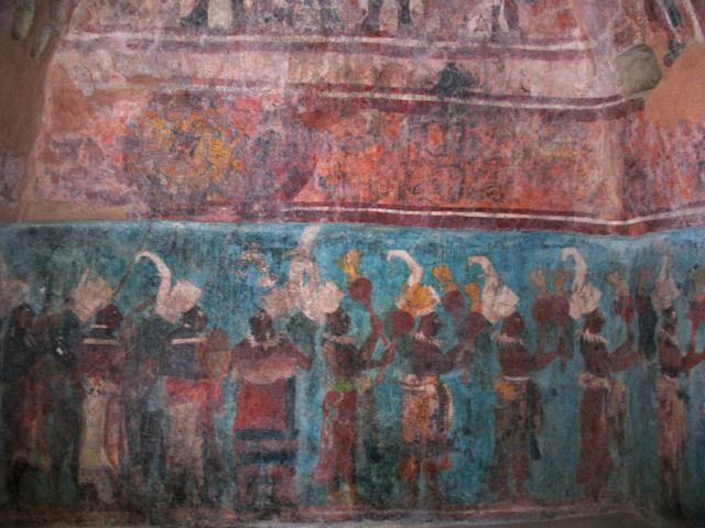 Bonampak is an amazing site where original maya wall for Bonampak mural painting